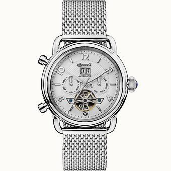Ingersoll I00904 The New England Automatic Silver Stainless Steel Mesh Mens Watch