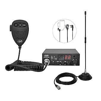 CB PNI ESCORT HP 8001L ASQ 4W 12V radio station package, 40 channels + CB PNI Extra 40 antenna with magnet included, length 45 cm, 30W