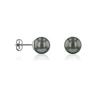 Luna-Pearls Ohrringe 750 Weissgold Tahiti-Perle 10.5-11mm - HS1054_10.5-11mm