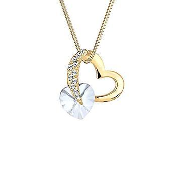 Elli kaulakoru Herz Love Rosa Kristalle 925 Silber