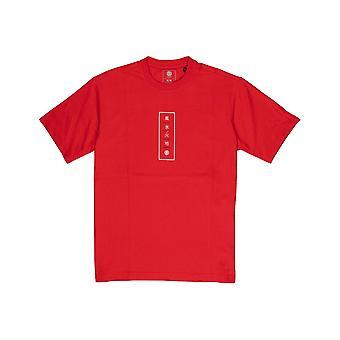 Element Arata Korte Mouw T-shirt in Vuur rood