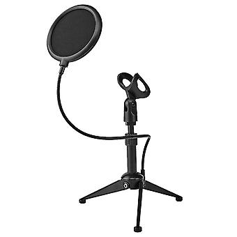 Table stand with Pop filter for Microphone