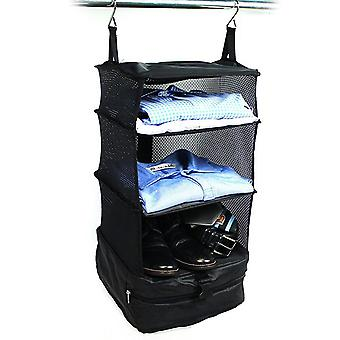 Luggage Bag Portable Hanging Travel Bags Shelves 3 Layer Wardrobe Bag|Foldable Storage Bags