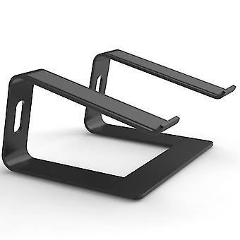 Musta kannettavan tietokoneen jalusta - kannettavan tietokoneen nousuteline työpöydälle - alumiininen ergonominen kannettava teline x6549