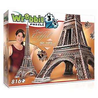 Wrebbit 3D The Eiffel Tower Jigsaw Puzzle - 816 Pieces
