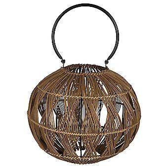 Runde rustikale braun Bambus Laterne