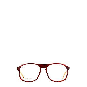 Gucci GG0844O havana male eyeglasses