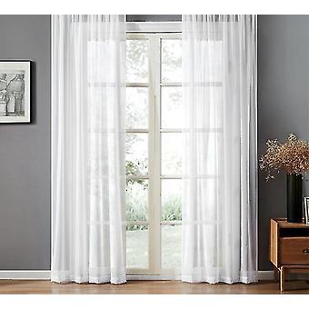 جديد 2.grommet الأعلى (حلقات) الأبيض voile نافذة الستائر لغرفة المعيشة الحديثة تول النسيج الستائر sm55242