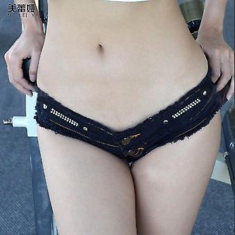Meileiya Encantador Diseño Verano Mujeres Short Denim Pant Night Club Jean Pantalones