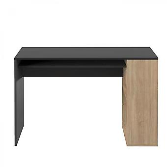 Desk Yale Black And Natural Oak 113.9 X 75.5 Temahome