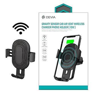 Qi Trådlös Laddning Bilhållare - Devia Gravity Luftventil