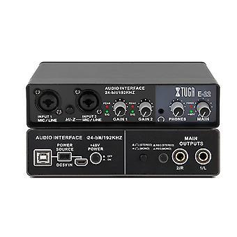 Usb audio studio geluidskaart opname-interface voor levende uitzending