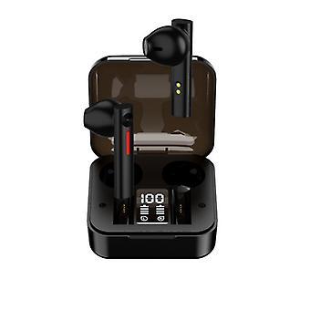Chronus In-Ear-Kopfhörer, In-Ear-Kopfhörer mit Bluetooth-kompatiblen 5.0 Wireless-Ohrhörern mit intelligentem Noise Cancelling-Mikrofon (schwarz)
