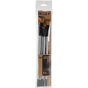 Finnabair Art Basics Brush Set 7/Pkg - Sizes: 0, 2, 4, 1/4, 1/2, 3/4, 1