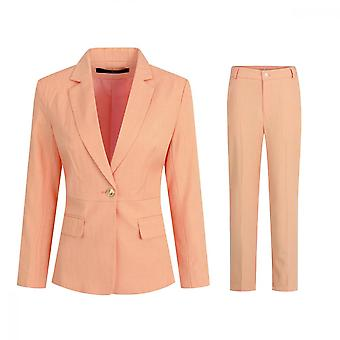 Mile Women's Striped Single Row One Button Suit Two Pieces For Work