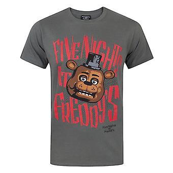 Five Nights At Freddys Mens Freddy Fazbear T-Shirt