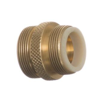 """Python No Spill Clean & Fill Male Brass Adapter - 1 Adapter - (13/16"""" x 27 Male Thread)"""
