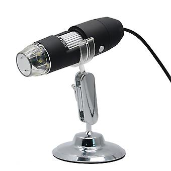 3 In 1 Usb Ports 1080p Portable Usb Digital Microscope 1000x 8 Led Magnifier With Stand