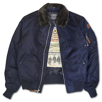 Top Gun B-15 Men's Heavy Duty Vintage Flight Bomber Jacket