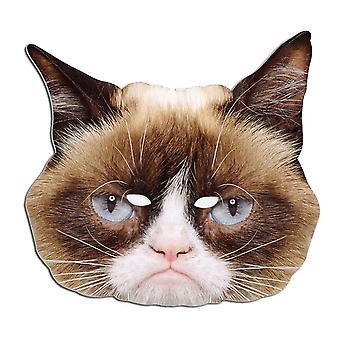Grumpy Cat Animal Single Card Party Fancy Dress Mask
