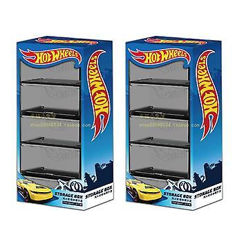 1/64 سيارات نموذج صندوق التخزين، بوتيك عرض شفاف 5 صناديق تعيين