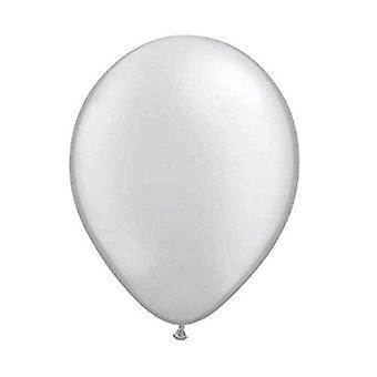08404 Silver Balloons Metallic 30 cm-10 Pieces