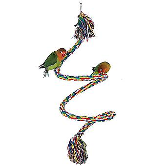 Parrot Standing Stick Parrot Climbing Color Cotton Rope Station Stick Parrot Items Chew Toy