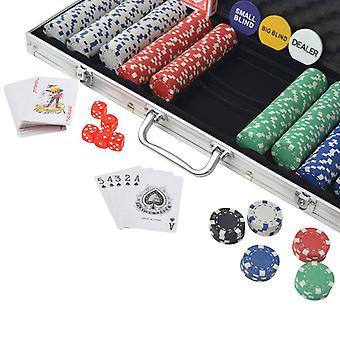 Chunhelife Poker Set Avec 500 Jetons Aluminium
