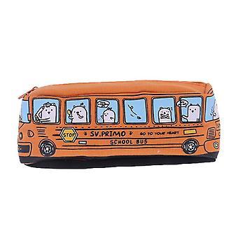 Süße Schüler Schule Bus Bleistift Fall Büro Schreibwaren Organizer Tasche Auto Make-up Tasche Halter für Frauen Kinder Mädchen