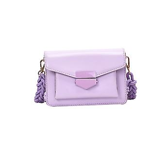 Axelväskor Rem Design Liten Pu Läder Crossbody Väskor för Kvinnor Axel Handväska Kvinna Cross Body Bag