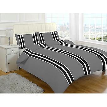 Brody Streifen gebürstete Baumwolle Flanell thermische Bettbezug Bettwäsche Set