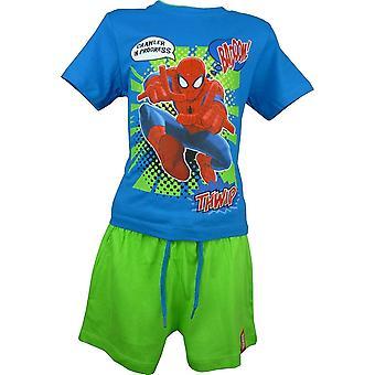 Gutter Marvel Spiderman 2 brikke satt T-Shirt & Shorts OE1533