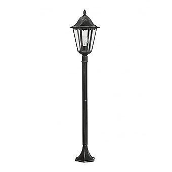 Eglo Navedo 1 Light Outdoor Post Lamp Black / Silver IP44