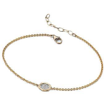 9Ct Gold Bracelet Original Or Blanc Et Or 375/1000 Carats