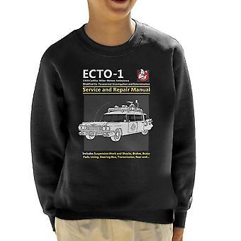Ghostbusters Ecto1 Service And Repair Manual Kid's Sweatshirt
