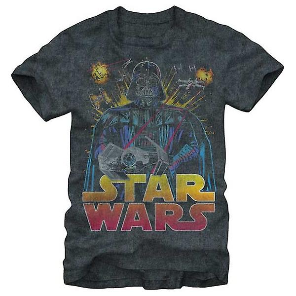 Star Wars Mens Star Wars antique menace T Shirt Charcoal