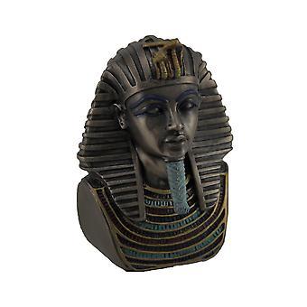 Metallic Bronze Finished King Tut Death Mask Mini Statue
