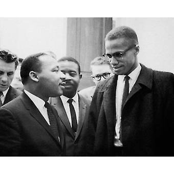 Martin Luther King Jr & Malcolm X Washington DC 26. marts 1964 plakat Print af McMahan fotoarkiv (10 x 8)