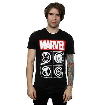 Marvel miesten Avengers kuvakkeet T-paita