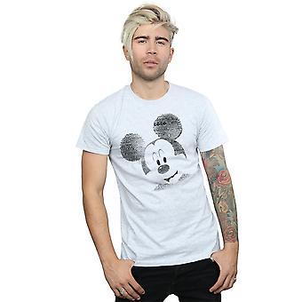 דיסני גברים ' s מיקי מאוס טקסט הפנים חולצת טריקו