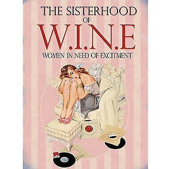 Sisterhood Of Wine Metal Wall Sign