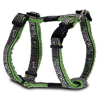 Rogz Jellybean Walking Control Durable Dog Harness, Lime Bone