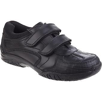 Hush Puppies jungen Jezza Senior Smart Ledertextil gepolsterte Schuhe