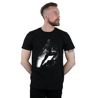 Męska Czarna Pantera stojący poza T-Shirt Marvel