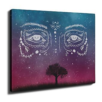 Face Stylish Cool Wall Art Canvas 40cm x 30cm | Wellcoda