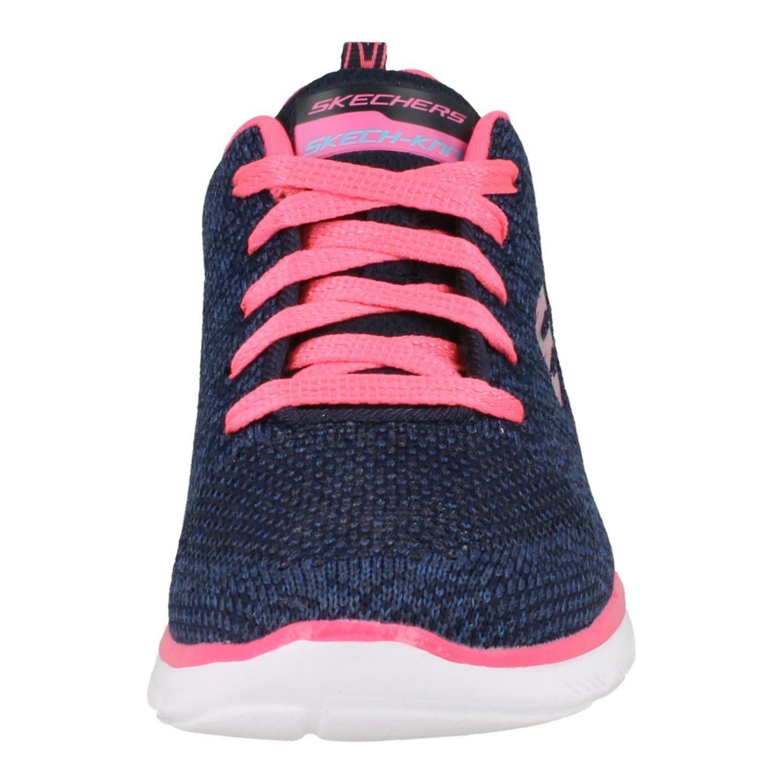 Girls Skechers Skech Knit Trainers High Energy 81655 NavyHot Pink Textile UK Size 11.5 EU Size 29 US Size 12.5