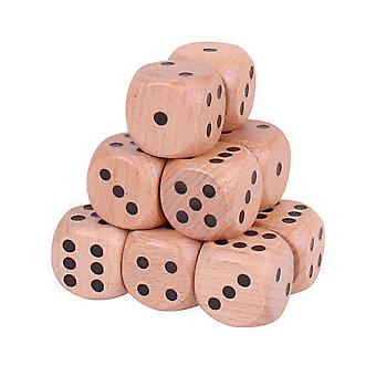 Bigjigs Toys Large Wooden Dice (Natural - Pack of 12) Games Accessories Numbers