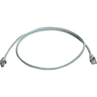 Telegärtner RJ45 Network cable, patch cable CAT 6A S/FTP 20.00 m Grey Flame-retardant, Halogen-free