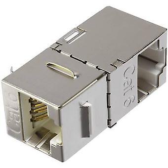 Renkforce RJ45 Networks Adapter CAT 6 [1x RJ45 socket - 1x RJ45 socket] Metal