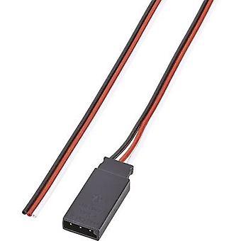 Servo Bly [1x Futaba plugg - 1x Öppna kabeländar] 30,00 cm 0,14 mm² band Modelcraft